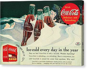 Copy Of A 1925 Coca Cola Ad Canvas Print by Walter Colvin