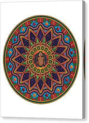 Coqui Mandala Canvas Print by Daniel Ramirez