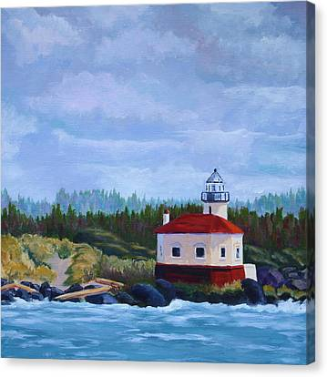 Canvas Print featuring the painting Coquille Light by Nancy Jolley