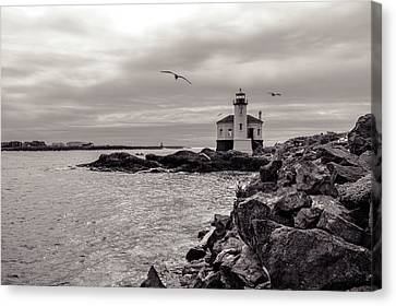 Coquille Lighthouse Oregon  Canvas Print