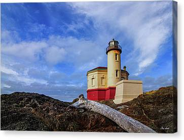 Coquille River Light Canvas Print by C Steele