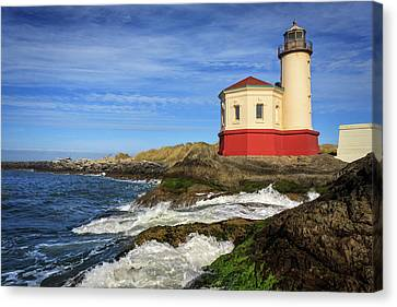 Coquille River Lighthouse At Bandon Canvas Print