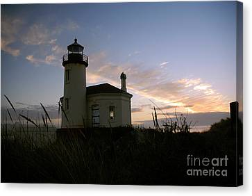 Coquille River Lighthouse At Sunset Canvas Print