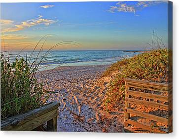 Coquina Beach By H H Photography Of Florida  Canvas Print