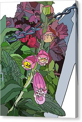 Coral Bells In The Garden Canvas Print by Jamie Downs
