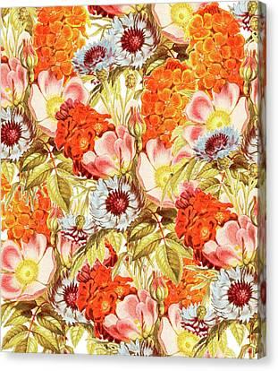 Coral Bloom Canvas Print by Uma Gokhale