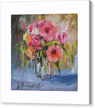 Canvas Print featuring the painting Coral Bouquet by Jennifer Beaudet