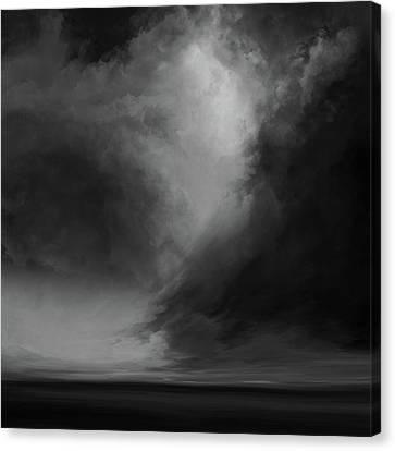 Coral Bw Canvas Print