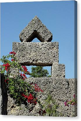 Coral Castle For Love Canvas Print by Shirley Heyn