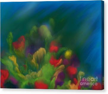 Coral Impressions Canvas Print by Roxy Riou
