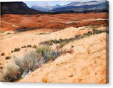 Coral Pink Sand Dunes Canvas Print - Coral Pink Sand Dunes by Donna Kennedy