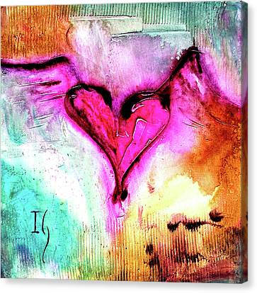 Corazon Rosa Canvas Print