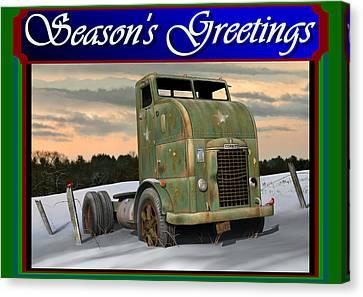 Canvas Print featuring the digital art Corbitt Christmas Card by Stuart Swartz