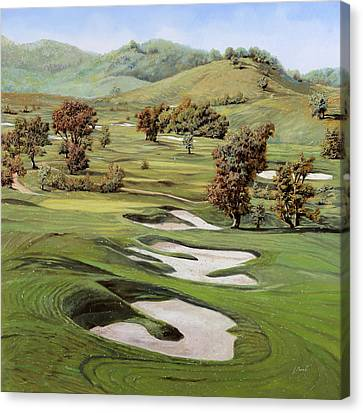 Cordevalle Golf Course Canvas Print by Guido Borelli