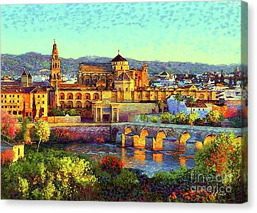 Building Canvas Print - Cordoba Mosque Cathedral Mezquita by Jane Small