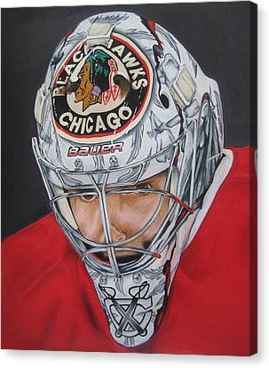 Corey Crawford Canvas Print by Brian Schuster