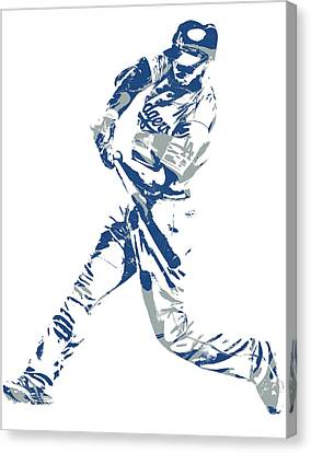 Cities Canvas Print - Corey Seager Los Angeles Dodgers Pixel Art 10 by Joe Hamilton