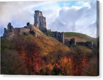 Corfe Castle - England Canvas Print