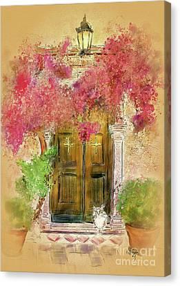 Corfu Canvas Print - Corfu Kitty by Lois Bryan
