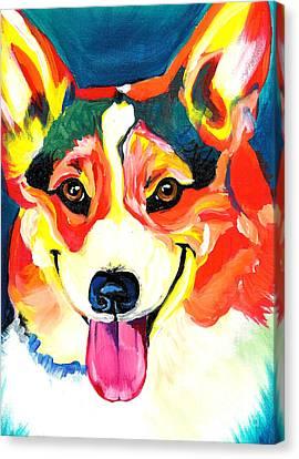 Corgi - Chance Canvas Print by Alicia VanNoy Call