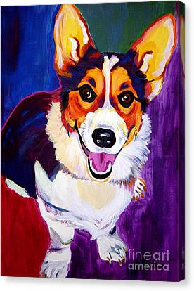 Corgi - Taste The Rainbow Canvas Print by Alicia VanNoy Call