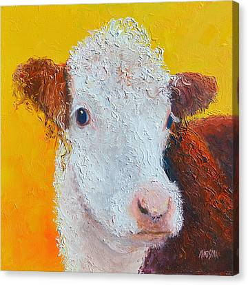 Coriander The Cow Canvas Print