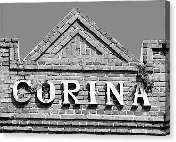 Corina Cigar Factory Sign Canvas Print