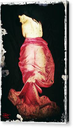 Canvas Print featuring the digital art Corinne 2 by Mark Baranowski