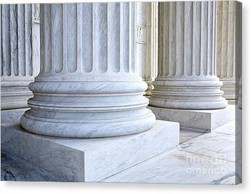 Corinthian Columns, United States Supreme Court, Washington Dc Canvas Print by Paul Edmondson