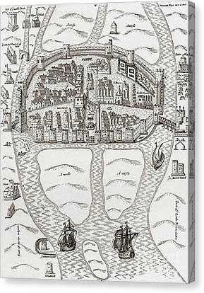 Cork Canvas Print - Cork, County Cork, Ireland In 1633 by Irish School