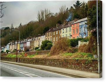 Canvas Print featuring the photograph Cork Row Houses by Marie Leslie