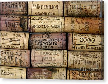 Corks Of French Wine Canvas Print by Bernard Jaubert