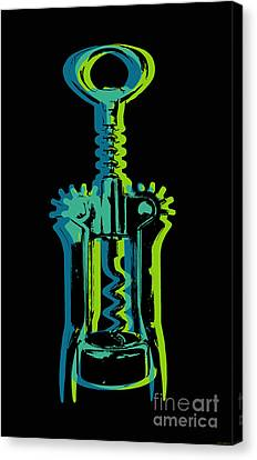 Canvas Print featuring the digital art Corkscrew by Jean luc Comperat