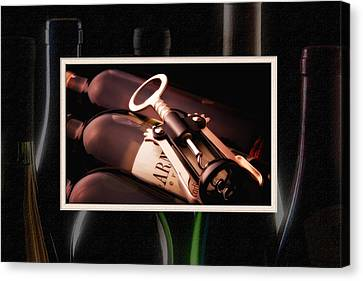 Corkscrew Matted Canvas Print