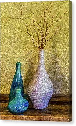 Canvas Print featuring the photograph Corkscrew Willows by Paul Wear