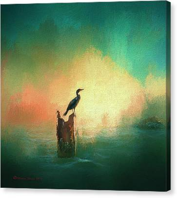 Wings Canvas Print - Cormorat Sunset by Marvin Spates