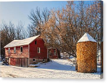 Corn Cribbed Barn Canvas Print by Todd Klassy