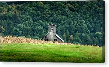 Corn Field Silo Canvas Print by Marvin Spates