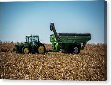 Corn Harvest Euipment Canvas Print