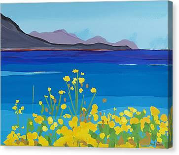 Corn Marigolds Canvas Print