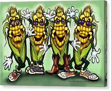 Corn Party Canvas Print by Kevin Middleton