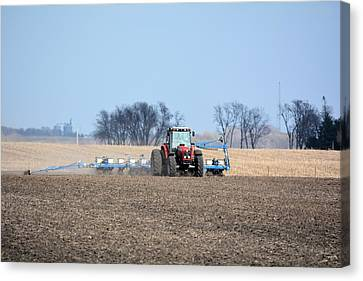 Corn Planting Canvas Print by Bonfire Photography