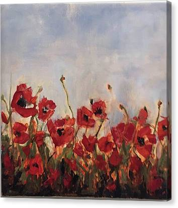 Corn Poppies In Remembrance Canvas Print