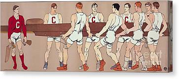 Cornell Eight Crew Rowing Poster Canvas Print by MotionAge Designs