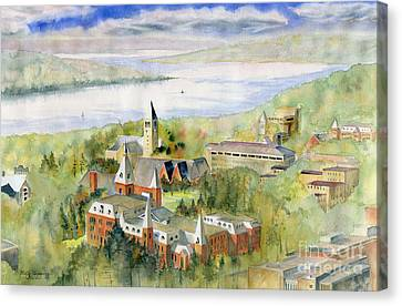 Cornell University Canvas Print by Melly Terpening