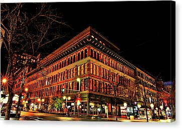 Store Fronts Canvas Print - Corner At 16th St Mall by Todd Yoder