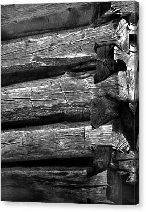 Canvas Print featuring the photograph Corner-logs by Curtis J Neeley Jr