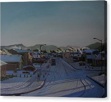 Corner Of 157th St. And 168th Ave. Canvas Print by Thu Nguyen