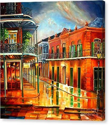 Corner Of Jackson Square Canvas Print by Diane Millsap