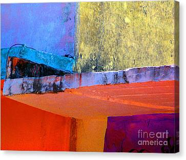Corner Scroll 2 By Michael Fitzpatrick Canvas Print by Mexicolors Art Photography